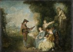 Живопись | Жан Антуан Ватто | Урок любви, 1716