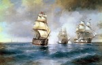 Живопись | Иван Айвазовский | Бриг «Меркурий», атакованный двумя турецкими кораблями, 1892