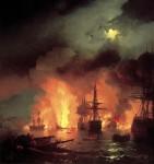 Живопись | Иван Айвазовский | Чесменский бой, 1848