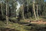 Живопись_Иван Шишкин_Ручей в берёзовом лесу, 1883