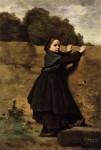 Живопись | Камиль Коро | Любопытная Девочка, 1850-е