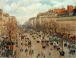Живопись | Камиль Писсарро | Бульвар Монмартр. После полудня, солнечно, 1897