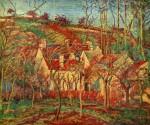 Живопись | Камиль Писсарро | Красные крыши, окраина деревни, зима, 1877