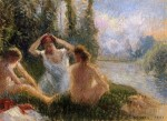 Живопись | Камиль Писсарро | Купальщицы на берегу реки, 1901