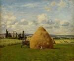 Живопись | Камиль Писсарро | Стог сена в Понтуазе, 1873