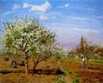 Живопись | Камиль Писсарро | Фруктовый сад в цвету, Лувесьен, 1872
