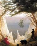Живопись | Каспар Давид Фридрих | Меловые скалы на острове Рюген, 1818
