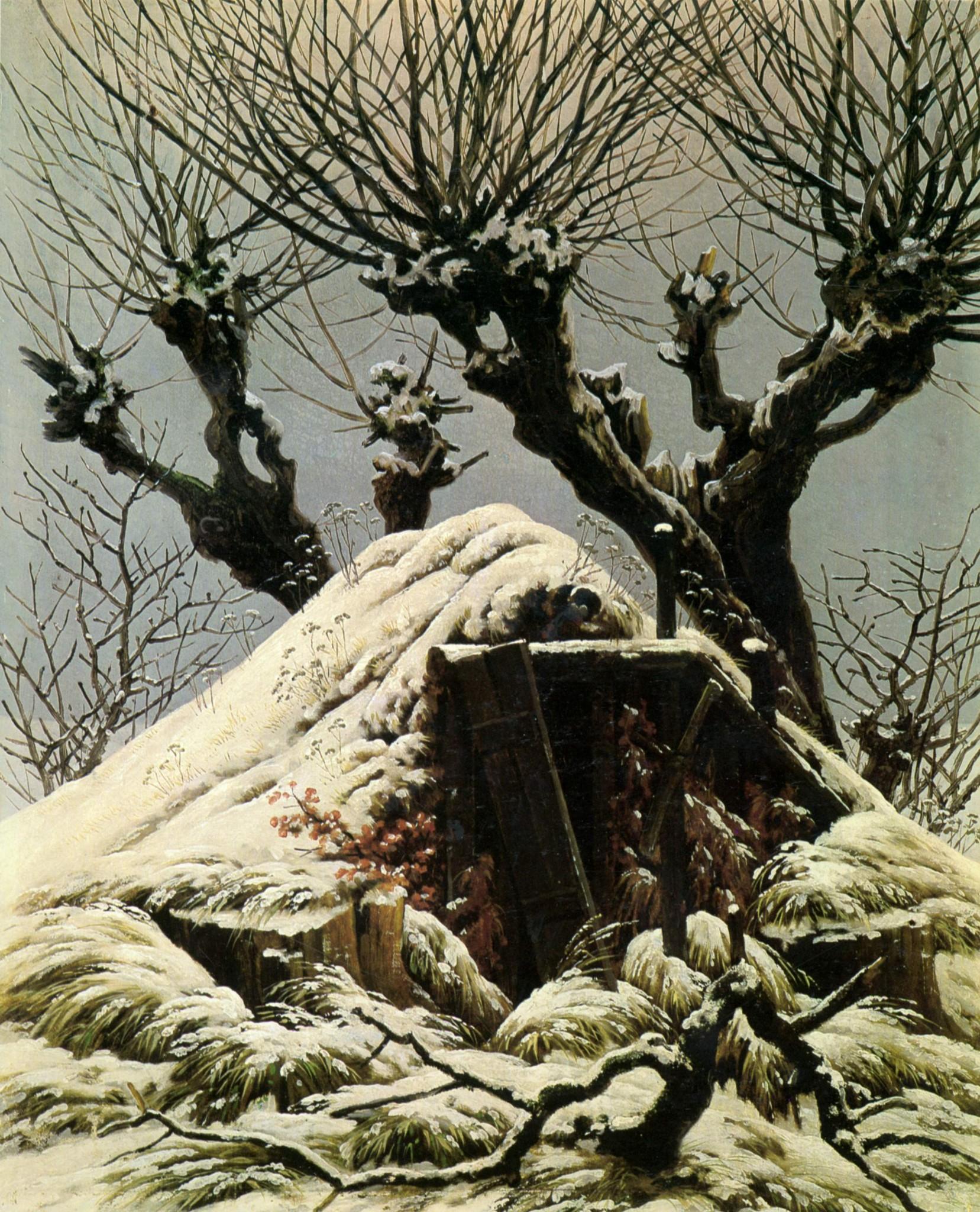 Картинки по запросу каспар фридрих снежная хижина