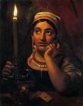 Живопись | Орест Кипренский | Гадалка со свечой, 1830