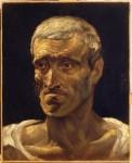 Живопись | Теодор Жерико | Голова жертвы кораблекрушения (Этюд к «Плот «Медузы»»), 1819