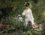 Живопись | Эдуард Мане | Молодая женщина среди цветов, 1879
