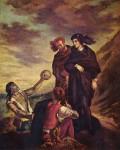 Живопись | Эжен Делакруа | Гамлет и Горацио на кладбище, 1835