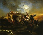 Живопись | Эжен Делакруа | Марокканские всадники в бою, 1832