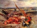 Живопись | Эжен Делакруа | Натюрморт с лобстерами, 1828
