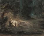 Живопись | Эжен Делакруа | Смерть Офелии, 1838
