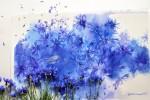 Живопись | Юлия Барминова | Blue cornflowers
