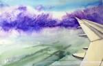 Живопись | Юлия Барминова | Lavender and the plane
