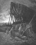 Иллюстрация | Гюстав Доре | Библия | И начал Он строить огромное Судно