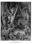 Иллюстрация | Гюстав Доре | Божественная комедия | Лес с Гарпиями