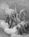 Иллюстрация | Гюстав Доре | Потерянный Рай | Война в Небесах