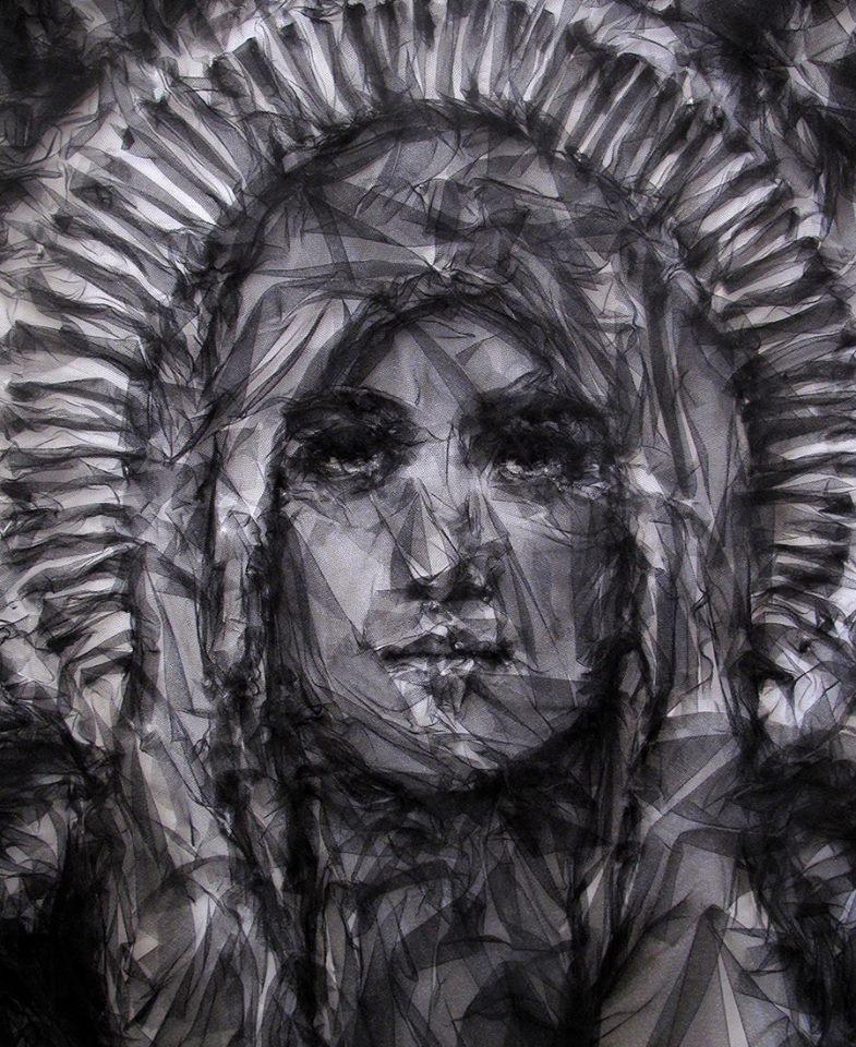 портреты из тюли