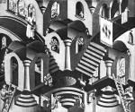 Графика | Мауриц Корнелис Эшер | Convex And Concave, 1955