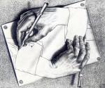 Графика | Мауриц Корнелис Эшер | Drawing Hands, 1948