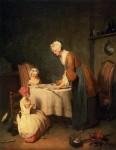 Живопись | Жан-Батист Симеон Шарден | Молитва перед обедом, 1744