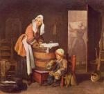 Живопись | Жан-Батист Симеон Шарден | Прачка, 1735