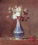 Живопись | Жан-Батист Симеон Шарден | Цветы в сине-белой вазе, 1760-63