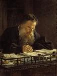Живопись | Николай Ге | Портрет Л. Н. Толстого, 1884