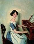 Живопись | Павел Федотов | Портрет надежды Ждановой за роялем, 1849-50