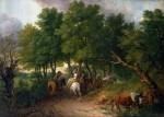 Живопись | Томас Гейнсборо | Возвращение крестьян с рынка, 1767-68