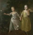 Живопись | Томас Гейнсборо | Портрет дочерей, преследующих бабочку, 1756