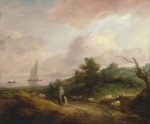 Живопись | Томас Гейнсборо | Прибрежный пейзаж с пастухом и стадом, 1783-84
