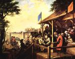 Живопись | Уильям Хогарт | Выборы в парламент | Голосование, 1753-54