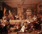 Живопись | Уильям Хогарт | Выборы в парламент | Предвыборный банкет, 1753-54