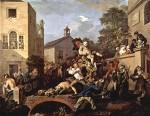 Живопись | Уильям Хогарт | Выборы в парламент | Триумф избранных в парламент, 1753-54