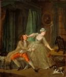 Живопись | Уильям Хогарт | До обольщения, 1731