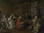 Живопись | Уильям Хогарт | Модный брак | Брачный контракт, 1743-45