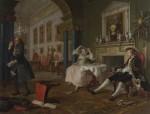 Живопись | Уильям Хогарт | Модный брак | Вскоре после свадьбы, 1743-45