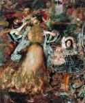 Живопись | Филипп Малявин | Автопортрет с женой и дочерью, 1910
