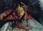 Живопись | Филипп Малявин | Крестьянская девушка, 1910-е