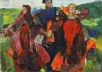 Живопись | Филипп Малявин | Народная песня, 1925
