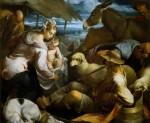 Живопись | Якопо Бассано | Поклонение пастухов_1553-54