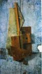 Скульптура | Владимир Татлин | Голубой контррельеф, 1914 Дерево, металл, кожа, окраска