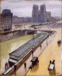 Живопись| Альбер Марке | Дождливый день в Париже. Собор Парижской богоматери, 1910