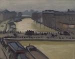 Живопись| Альбер Марке | Наводнение в Париже. Мост Сен-Мишель, 1910