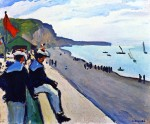 Живопись| Альбер Марке | Пляж в Фекане, 1906