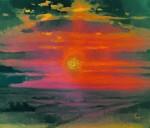 Живопись | Архип Куинджи | Закат зимой. Берег моря, 1876-90